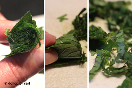 how to julienne mint