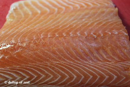 salmon for grilled salmon with dill marinade & sauce