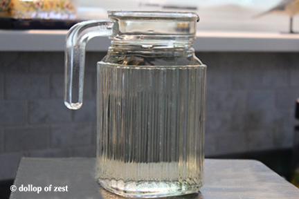 simple syrup in jar