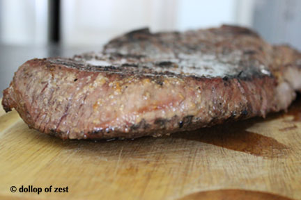 steak pre carving for marinated flank steak