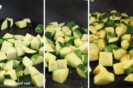 zuchini cooking