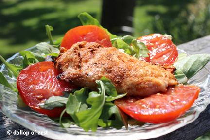 chrissa chicken on salad for Charissa chicken