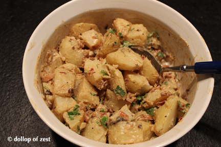 potato salad mixed  for grilled potato salad