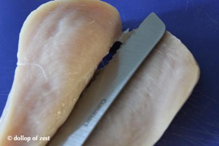 splitting the breasts