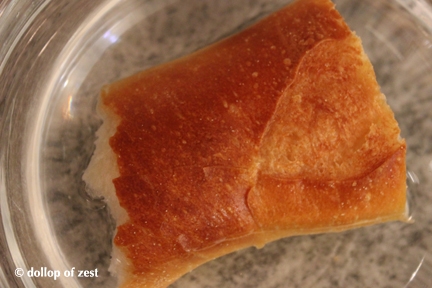 bread in water for gazpacho with a seville twist