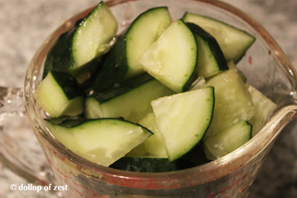 cucumbers for gazpacho with a seville twist