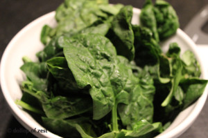 spinach for turkey bolognese sauce