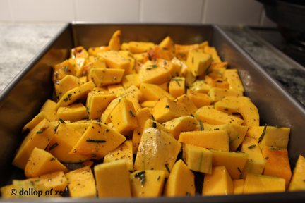 raw squash for rosemary roasted butternut squash
