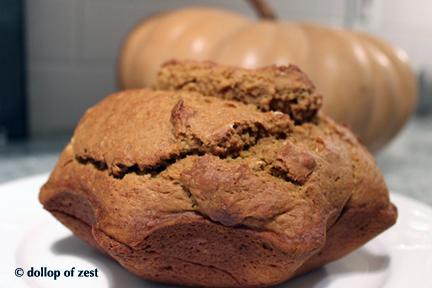 spice pumpkin bread baked