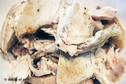 "chicken pre chop for ""leftover"" chicken salad"