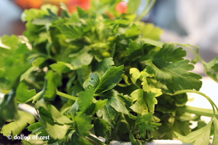 "parsley for ""leftover"" chicken salad"