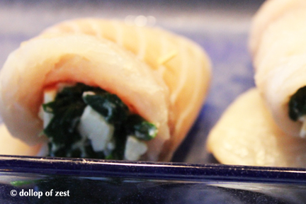 raw fish stuffed for baked fish stuffed with spinach & feta