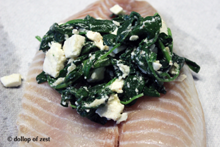stuffing fish for baked fish stuffed with spinach & feta